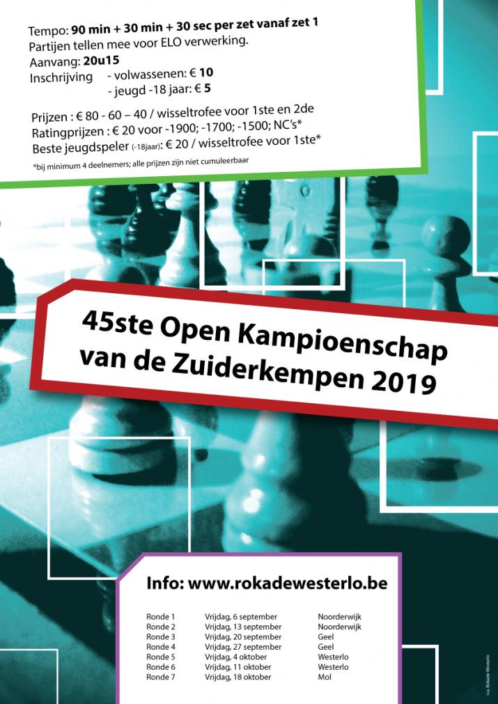 45ste Open Kampioenschap van de Zuiderkempen 2019