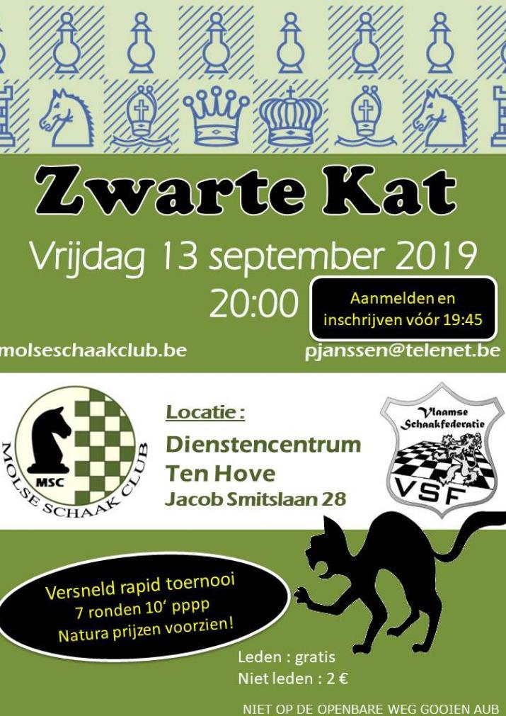 Zwarte Kat Toernooi Vrijdag De Dertiende