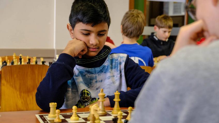 Arnav in actie op het Kersttoernooi in Turnhout 2018